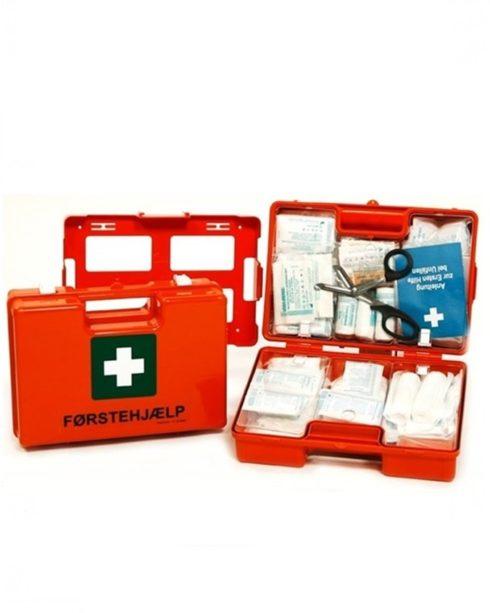 Førstehjælpskuffert COMPACT m. vægholder