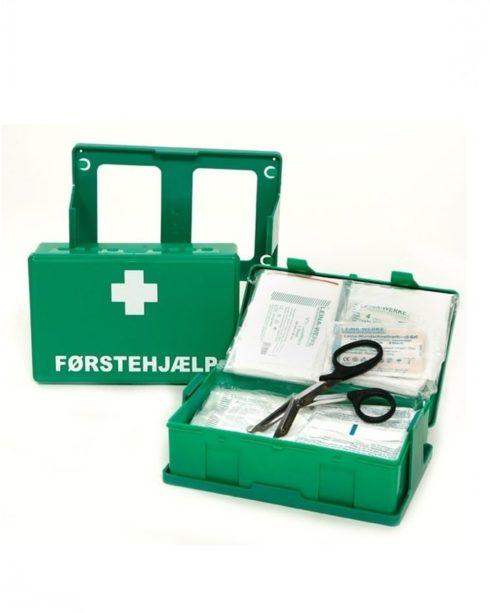 Førstehjælpskasse INDUSTRI m. vægholder