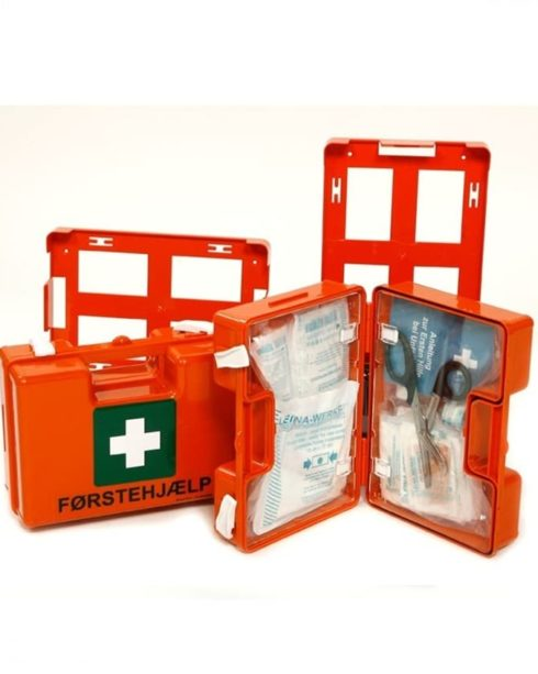 Førstehjælpskasse QUICK m. vægholder