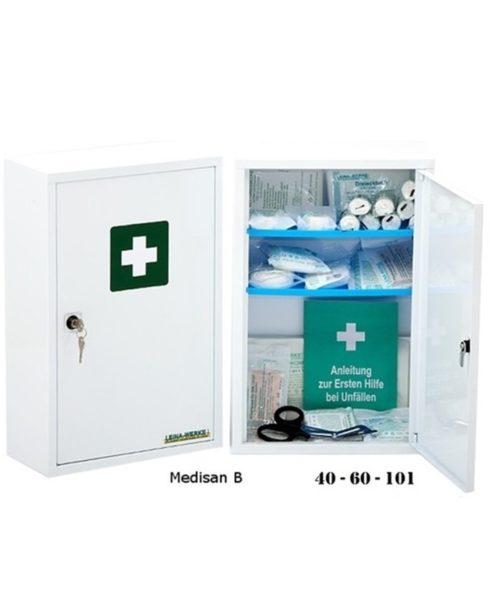 Førstehjælpsskabe / Sanitetsskabe (OBS: uden indhold)