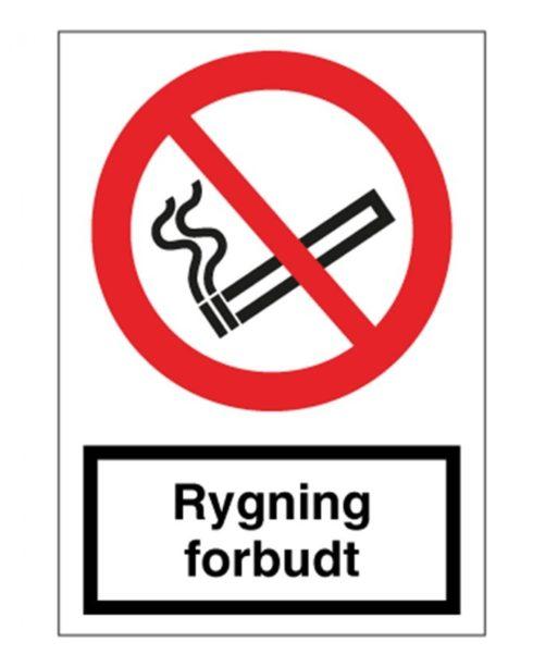 Forbuds skilte - Rygning / Åben ild forbudt