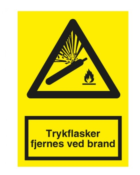 Advarsels skilte symboler m. tekst