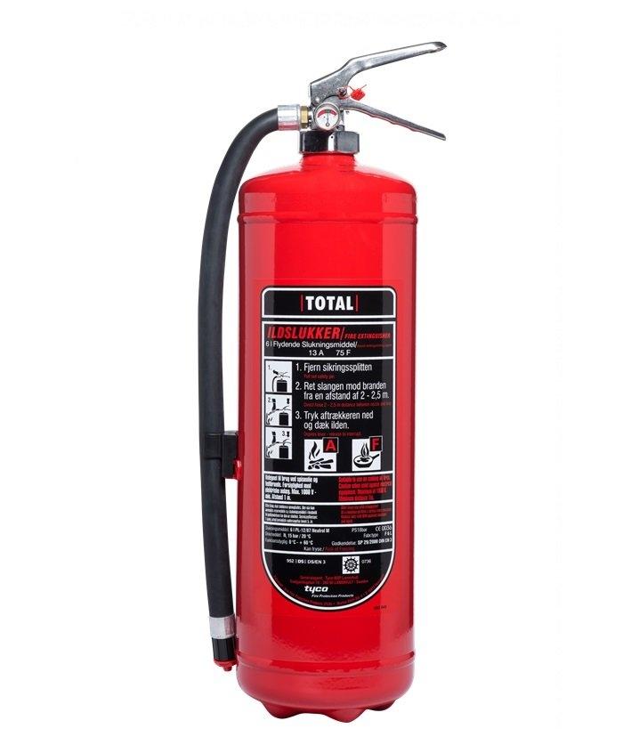 F6 - 6 ltr Fritureslukker / Fedtbrandslukker TOTAL