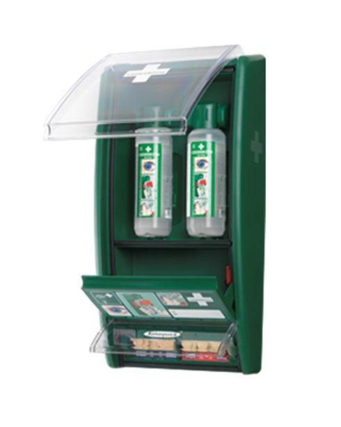 Øjenskyllestation med plasterautomat